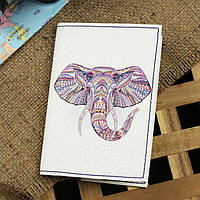"Обложка для паспорта ""Ethnic elephant"" + блокнотик BlankNote арт. BN-OP-KZ-36"