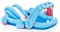 Детский надувной игровой центр бегемотик intex 57150  kk