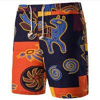 Mid Rise Micro-elastic Slim Relaxed Simple Solid Color Block Пляжные повседневные шорты