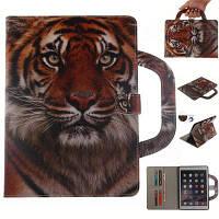 Дизайн обложки кошелька тигровой кожи с подставкой и портативными слотами для карт Магнитный чехол для iPad Mini 4 Жёлтый