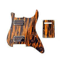 3PLY Zebra Stripe Загруженный пикап SS Alnico v Для гитары HH зебра полоса