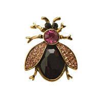 Высококачественная пчелиная брошь Черная эмаль Корсажные шляпы Шарфные зажимы Аксессуары Зеленые глаза Броши для женской вечеринки Фиолетовый
