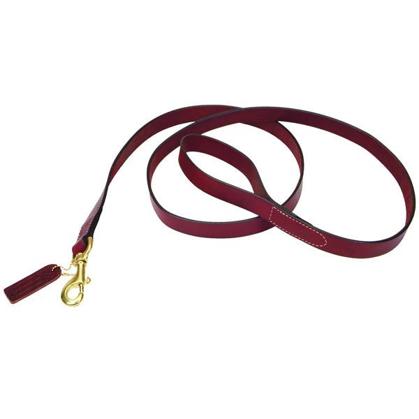 Поводок Coastal Circle-T для собак кожаный, медь, 1.6 см, 1.8 м