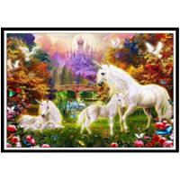 NAIYUE 9499 лошади Животное печать рисования Алмазная живопись Алмазная вышивка белый и коричневый