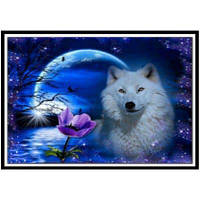 NAIYUE 9466 Живопись для собак Печать Алмазная живопись Алмазная вышивка Синий