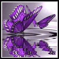 NAIYUE 9458 Бабочка для рисования животных Алмазная живопись Алмазная вышивка Фиолетовый