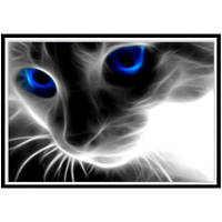 NAIYUE 9431 Животная кошка Печать Ничья Алмазная живопись Алмазная вышивка Чёрный