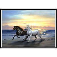NAIYUE J518 Животная лошадь Печать Ничьей Алмазная живопись Алмазная вышивка черно-белый