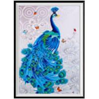 NAIYUE S065 Животный павлин Print Draw Алмазная живопись Алмазная вышивка Синий