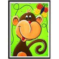 NAIYUE 1901 Monkey Print Draw Алмазная живопись Алмазная эмбрида Коричневый