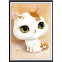 NAIYUE G-3 White Cat Animal Print Draw Алмазная живопись Алмазная вышивка Белый