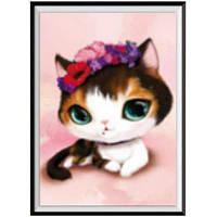 NAIYUE G-1 Animal Cat Print Draw Алмазная живопись Алмазная вышивка Коричневый+серебристый