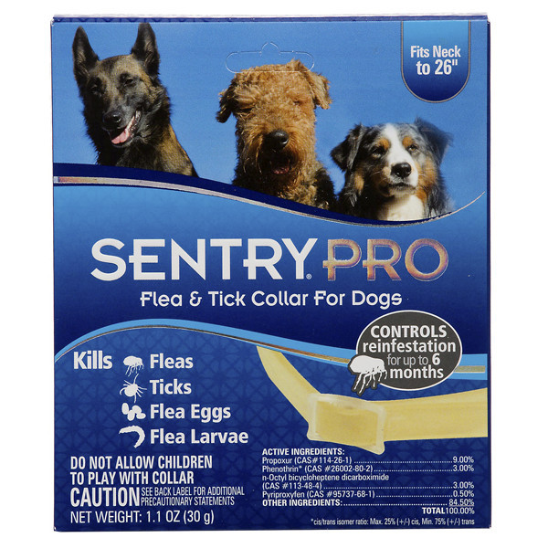 Ошейник Sentry Pro  блох и клещей для собак, 56 см