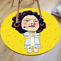 Мультфильм Кунг-фу Хастл Бездомный круглый коврик для ванной ширина24 дюйма * длина24 дюйма