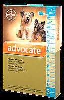 Капли Bayer Advocate (Адвокат) комплексные  паразитов для собак 4-10 кг