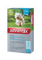 Капли Bayer Advantix (Адвантикс)  блох и клещей для собак 4-10 кг