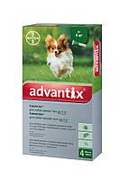 Капли Bayer Advantix (Адвантикс)  блох и клещей для собак до 4 кг