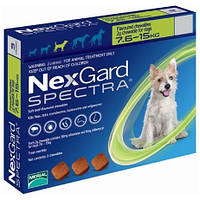 Таблетки NexGard Spectra  блох и клещей для собак, 7.5-15 кг