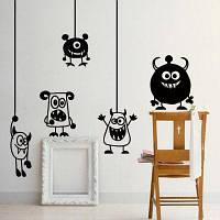 Мультфильм животных стены наклейки для детской комнаты Decration Чёрный
