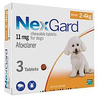 Таблетка NexGard  блох и клещей для собак, 2-4 кг 1таб