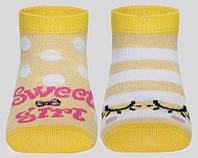 "Носки детские ""TIP-TOP"" (весёлые ножки) ""Conte"", светло-жёлтый, 12"