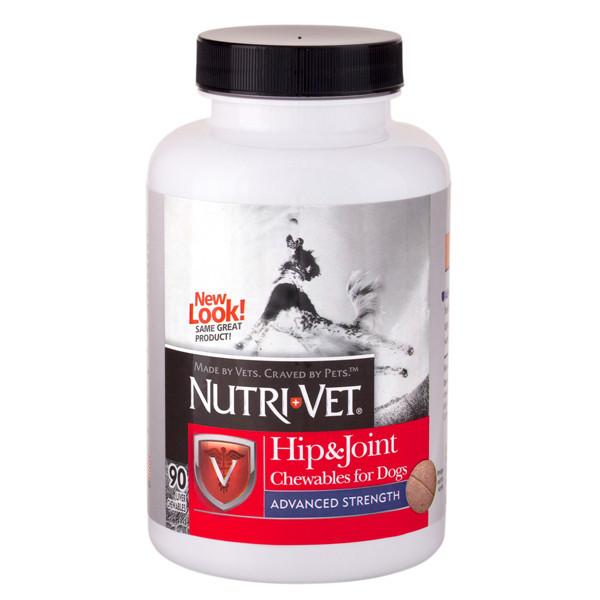 Витаминный комплекс Nutri-Vet Hip & Joint Advanced для собак с глюкозамином и хондроитином, 90 таб