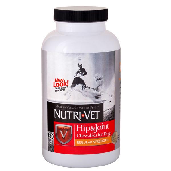 Витаминный комплекс Nutri-Vet Hip & Joint Regular для собак, здоровье связок и суставов, 180 таб