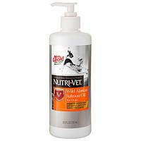 Масло лосося Nutri-Vet Salmon Oil для собак, здоровье кожи и шерсти, 192 мл