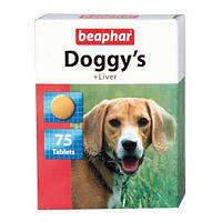Кормовая добавка Beaphar Doggy's + Liver для собак, со вкусом печени, 75 таб