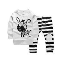 Baby Boys Girls Zebra Pattern Tops+Pants Комплект из двух частей 90