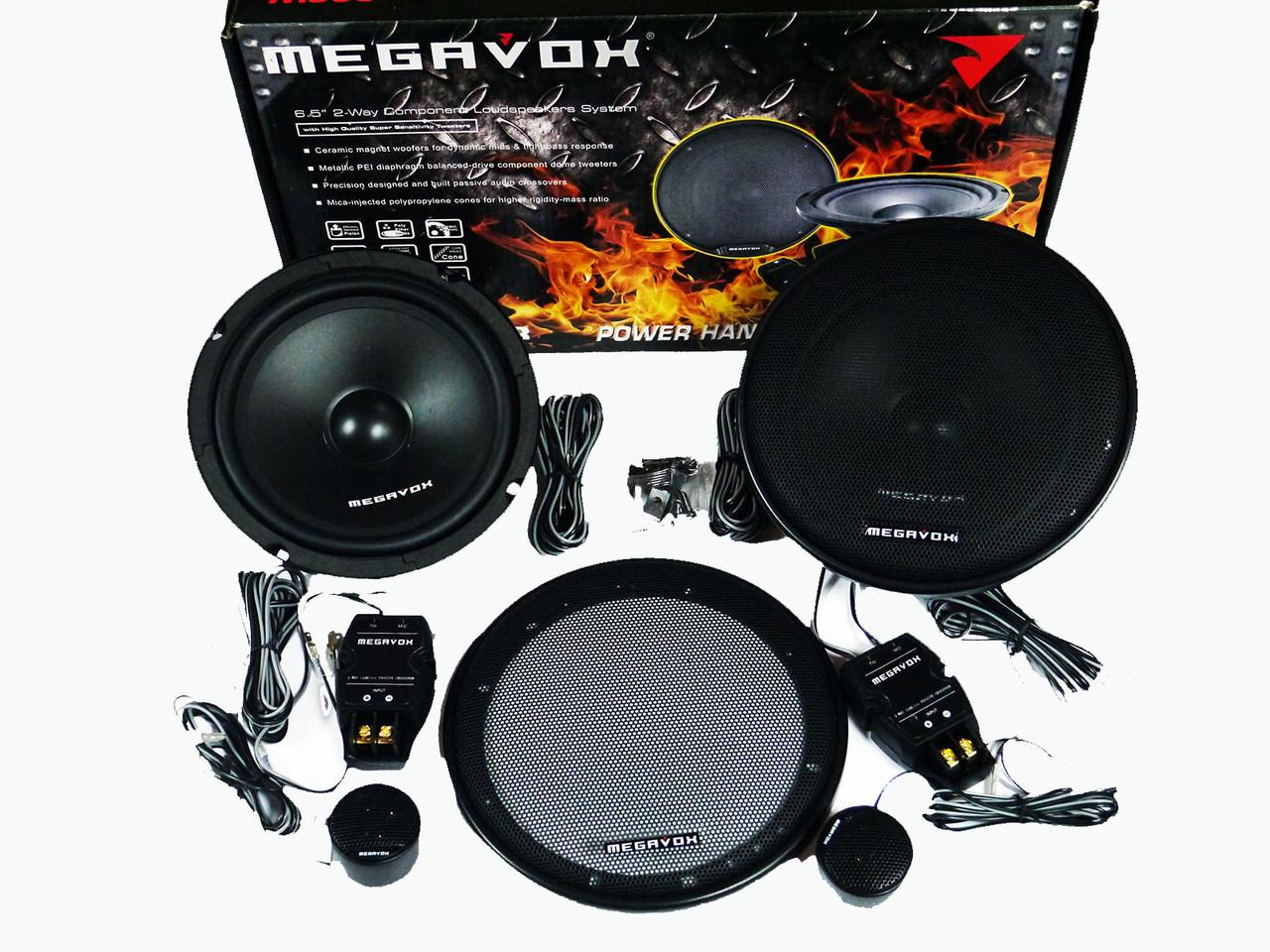 Megavox MHD-622R (300W)  16см двухполосные колонки