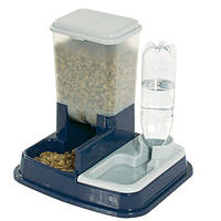 Кормушка-поилка Karlie-Flamingo Water+Feed Bowl для собак, пластик, 37х32х36 см