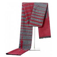 Мужское досуг Держите теплый полосатый шарф с кистями Красный