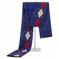 Мужской вязаный мягкий теплый плед повседневный шарф Пурпурно-синий