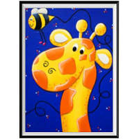 NAIYUE 1904 Giraffe Print Draw Алмазная живопись Жёлтый