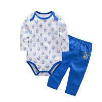 Wuawua Детская одежда Мальчики Хлопок Двухсекционная одежда из треугольника Romper 6 м