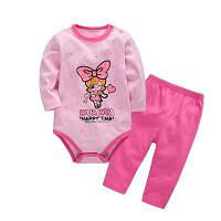 Wuawua Baby Одежда девочек Хлопок Двухсекционная одежда из треугольника Romper 6 м