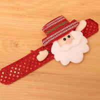 Рождественский орнамент блестки блеск Рождественский хлопок круг Рождество детей подарок браслет стороны кольцо свечение игрушка Красный