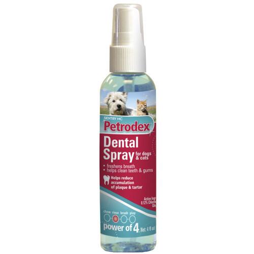 Спрей Sentry Pеtrodex Dental Spray (Петродекс Дентал)  зубного налета для собак и ков, 0,118 л