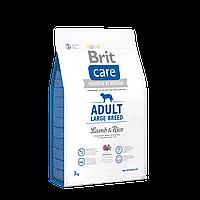 Сухой корм для взрослых собак крупных пород Brit Care Adult Large Breed Lamb & Rice 3кг