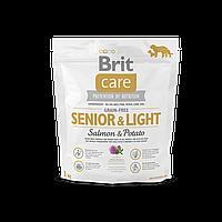 Сухой корм для пожилых собак всех пород Brit Care GF Senior & Light Salmon & Potato 1 кг