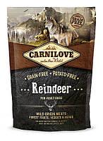 Сухой корм для взрослых собак Carnilove Reindeer с мясом северного оленя 1.5 кг