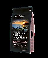 Сухой корм для молодых собак крупных пород Profine Junior Large Salmon лосось, картофель 15 кг (170555)
