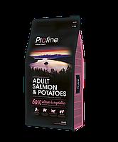 Сухой корм для взрослых собак Profine Adult Salmon с лососем и картофелем 15 кг