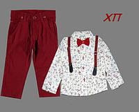 Нарядный костюм для мальчика с бабочкой и подтяжками Турция р. 7, 8