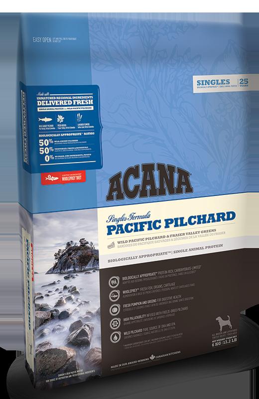 Сухой корм Acana (Акана) Pacific Pilchard для собак всех пород и возрастов с сардиной 2 кг