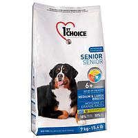 Сухой корм для пожилых собак 1st Choice Senior Medium & Large Breed со вкусом курицы 7 кг