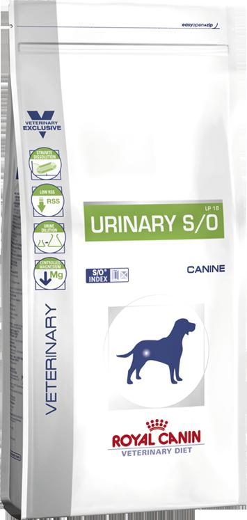 Royal Canin Urinary S/O LP18 для собак при мочекаменной болезни 14 кг