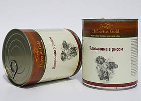 Консервы Hubertus Gold для собак говядина с рисом, 800 г