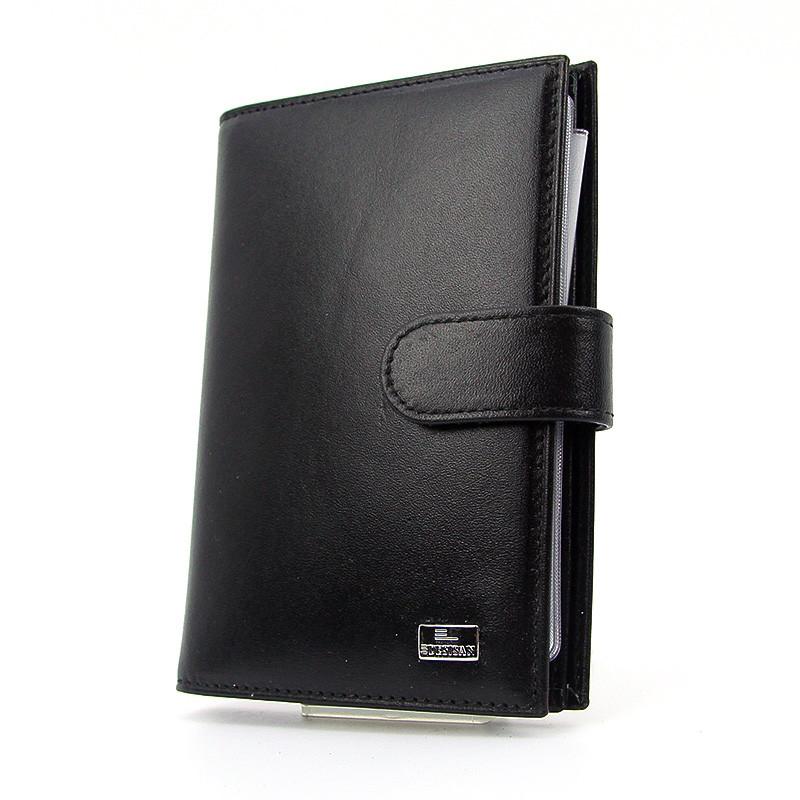 Обложка для документов (права, паспорт) кожаная черная Desisan 102-1 Турция